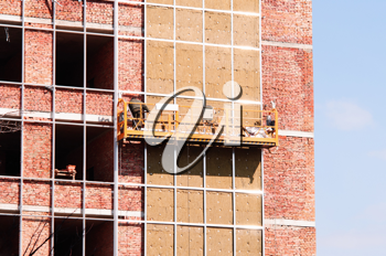 Royalty Free Photo of Scaffolding Against a Building