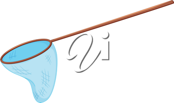Illustration of a fishing net on white
