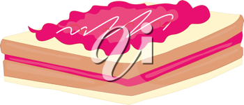 strawberry slice wafer with icing