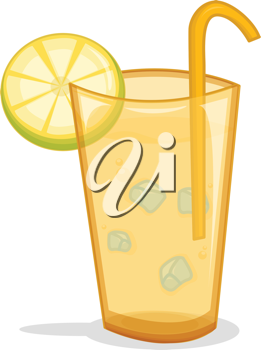 Illustration of an iced drink in a glass