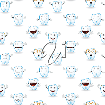 illustration of tooths on a white background