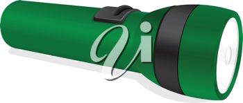 illustration of a torch on a white background