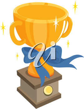 illustration of trophy on white