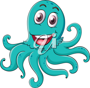 illustration of an octopus on a white background