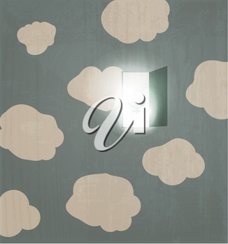 Royalty Free Clipart Image of an Abstract Cloud Background