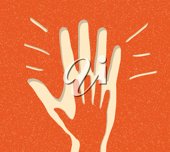 Royalty Free Clipart Image of an Applause Icon