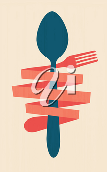 Royalty Free Clipart Image of a  Retro Restaurant Poster