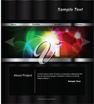 Royalty Free Clipart Image of a Vector Website Design Template