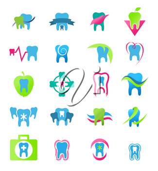 Royalty Free Clipart Image of Dental Icons