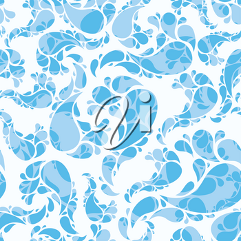 Royalty Free Clipart Image of a Seamless Water Background