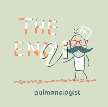 pulmonologist from cigarettes to put the words  the end