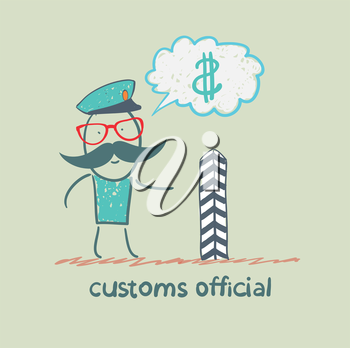 customs officer thinks about money