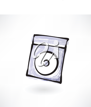 compact disk grunge icon