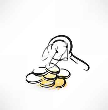 searching for money grunge icon