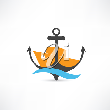 steamer and anchor icon