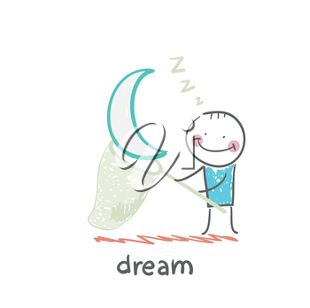 a man in a dream star catches a butterfly net