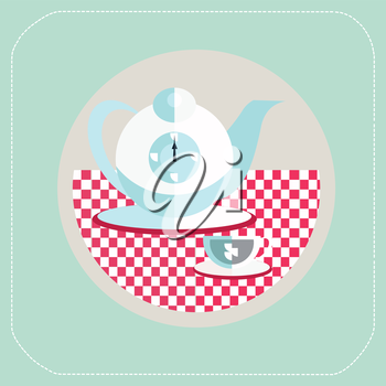 Cup of tea. flat icon