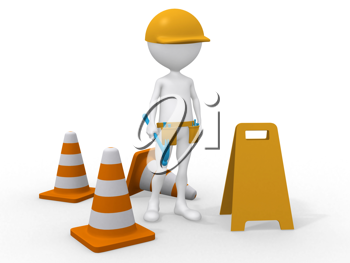 Royalty Free Clipart Image of an Under Construction Area