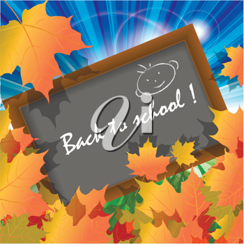 Royalty Free Clipart Image of a Back to School Illustration