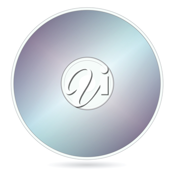 Royalty Free Clipart Image of a Compact Disk