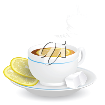 Royalty Free Clipart Image of a Cup of Tea