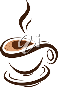 Stock Illustration Symbolic Cup of Coffee on a White Background