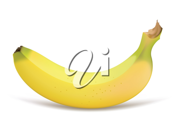 Royalty Free Clipart Image of a Banana