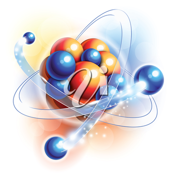 Royalty Free Clipart Image of Molecules, Atoms and Particles in Motion