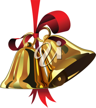 Royalty Free Clipart Image of Christmas Bells