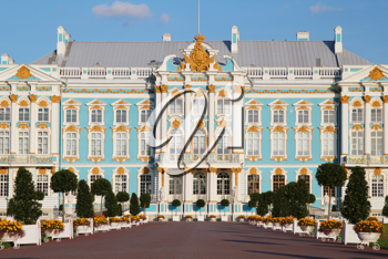 The Catherine Palace - the summer residence of the Russian tsars. Pushkin, Saint-Petersburg.