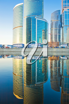 Royalty Free Photo of The New International Skyscrapers Business Center in Moscow City Russia