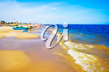 Royalty Free Photo of a A Beach in Adriatic Sea Rimini, Italy