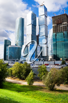 Royalty Free Photo of Skyscrapers in Moscow