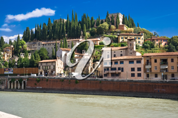 Royalty Free Photo of Verona and Adige River in Italy