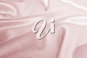 Abstract background pink silk fabric with beautiful waves