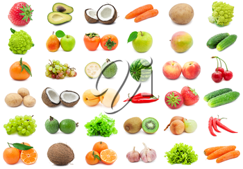 Royalty Free Photo of a Grouping of Fruits and Vegetables