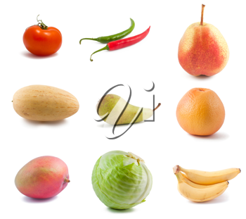 Royalty Free Photo of a Collage of Various Fruits and Vegetables