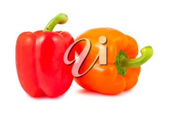 Royalty Free Photo of a Couple Ripe Bell Peppers