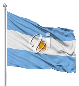 Royalty Free Clipart Image of the Flag of Argentina