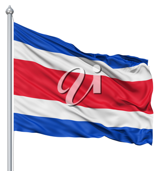 Royalty Free Clipart Image of the Flag of Costa Rica