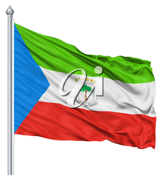 Royalty Free Clipart Image of a Equatorial Guinea Flag