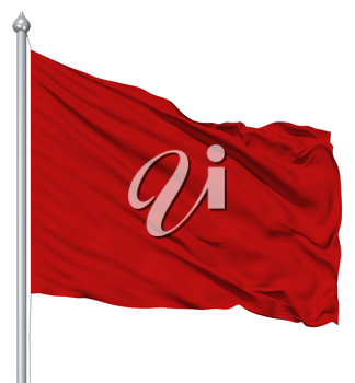 Royalty Free Clipart Image of a Red Flag