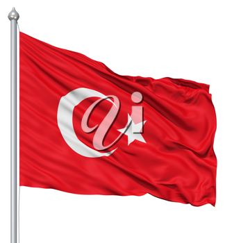 Royalty Free Clipart Image of the Flag of Turkey
