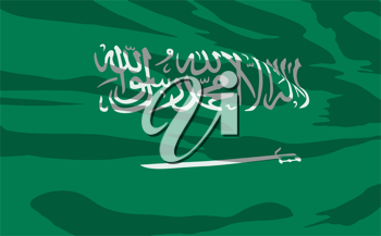 Royalty Free Clipart Image of a the Saudi Arabia Flag