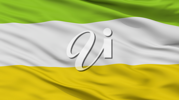 Majagual City Flag, Country Colombia, Sucre Department, Closeup View, 3D Rendering