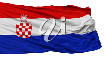 Independent State Of Croatia War Flag, Isolated On White Background, 3D Rendering