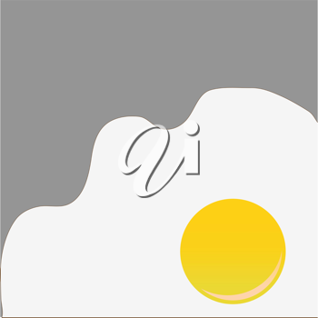 Royalty Free Clipart Image of a Fried Egg