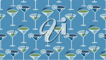 Royalty Free Clipart Image of a Cocktails Background