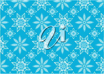 Royalty Free Clipart Image of a Snowflakes Background