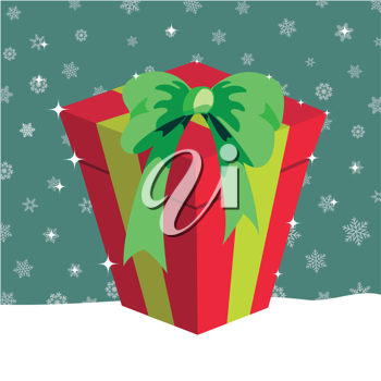 Royalty Free Clipart Image of a Christmas Present